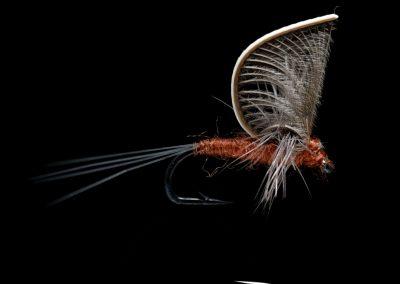 Stealth Hackle Wing Mayfly Mahogany